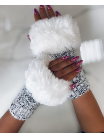 Białe  Rękawiczki  Z...