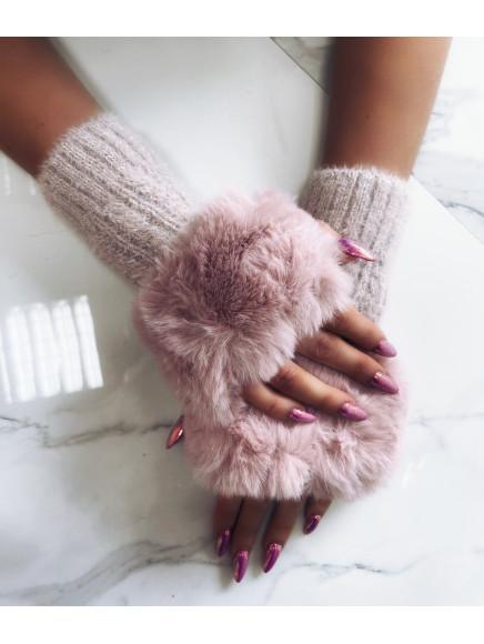Pudrowe  Rękawiczki  Z...