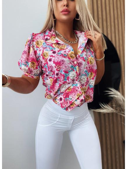 Koszula  Flower  Pink  497